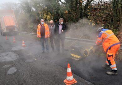 Ausbesserungsarbeiten im Stadtgebiet Bingen – Heißbitumen bietet flexible Möglichkeiten